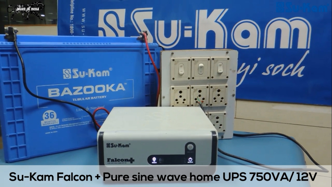 How To Repair A Pure Sine Wave Inverter Su Kam Falcon Plus Youtube Solar Attic Fan Battery Backup System Components