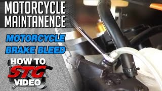 How to Bleed Motorcycle Brakes from SportbikeTrackGear.com