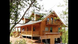 Log Home Basics and Country Landscaping Ideas | Small Log Home Design Ideas