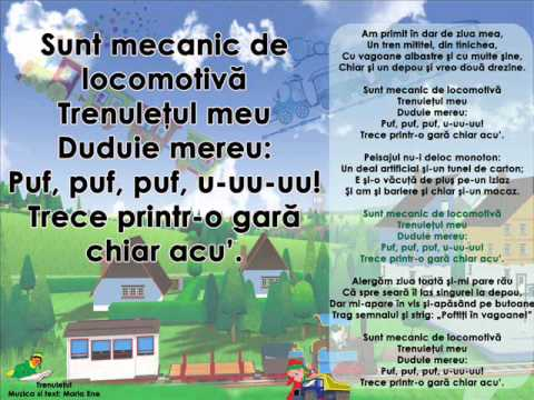 TRENULEȚUL – Cantece pentru copii in limba romana