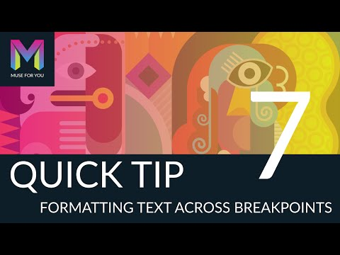 Quick Tip #7 - Formatting Text Across Breakpoints | Adobe Muse CC | Muse For You
