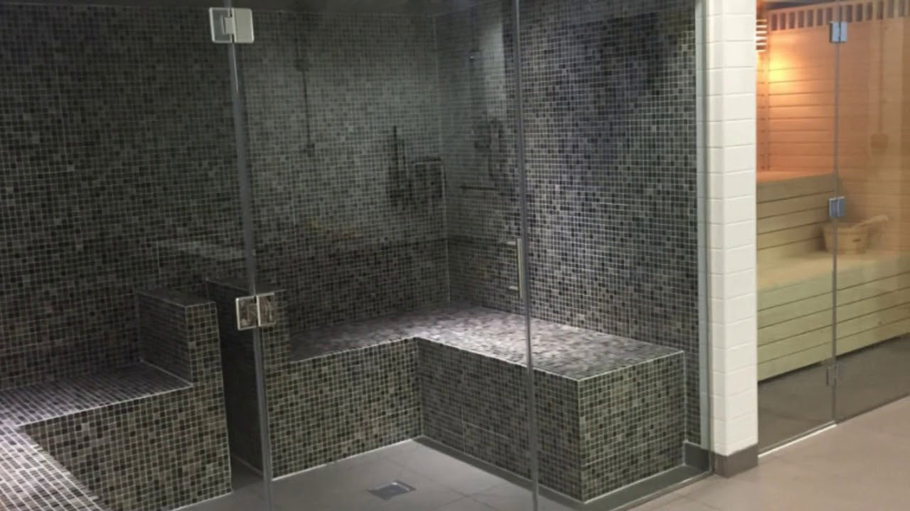 Sauna steam room for home designs youtube for Steam room design plans