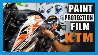 Paint Protection Film Wrap For KTM Duke 125 | Bike Modification & Wrapping | #xtremz