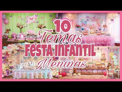 VMTododia#30 - 10 temas mais pedidos para festa infantil 2017 para meninas