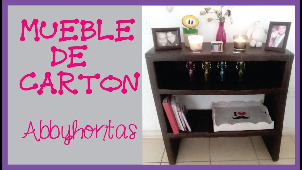 Manualidades c mo hacer un mueble de carton muebles for Papel para forrar muebles de cocina