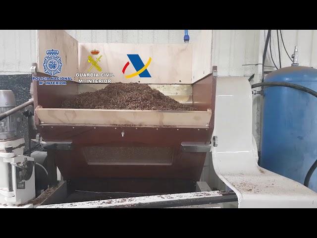 Desarticulada una organización dedicada a la fabricación clandestina de cajetillas de tabaco