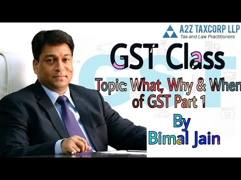 Aldine Satellite GST Class by CA Bimal Jain Topic: What, Why & When of GST Part 1