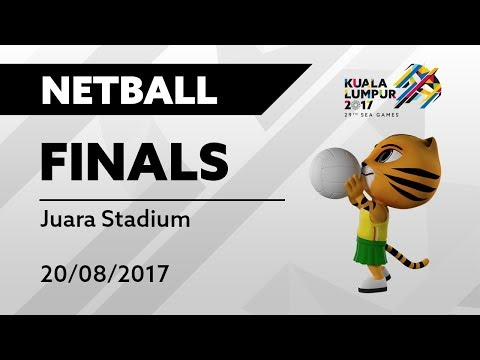 KL2017 29th SEA Games | Netball FINALS - MAS 🇲🇾 vs SGP 🇸🇬 | 20/08