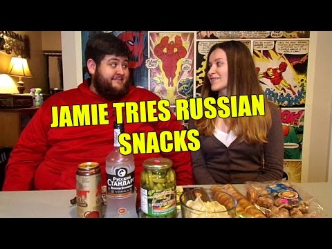 Jamie Snacks On Russian Food