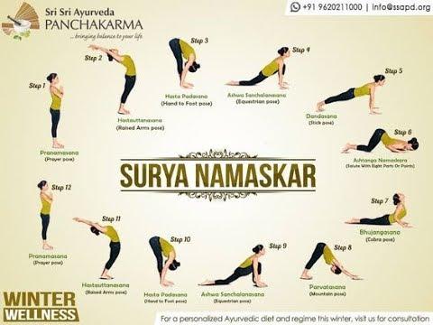 surya namaskar  stepstep  sun salutation  12 yoga
