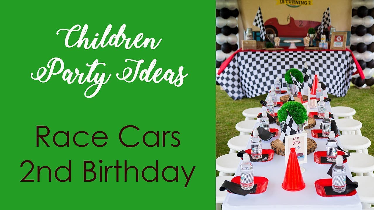 Kids Party Ideas Racing Cars 2nd Birthday