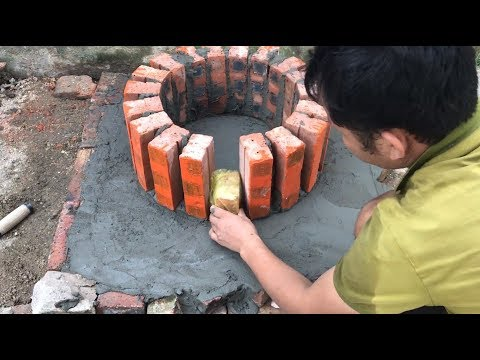HOW TO BUILD A Miniature BBQ OVEN from Bricks - BRICKLAYING - BBQ in the oven !