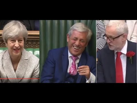 20170613 UK PM MAY on Bercow: At least someone got a landslide. HoC
