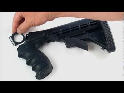 ATI Remington 870 Pistol Grip Buttstock and Forend - YouTube