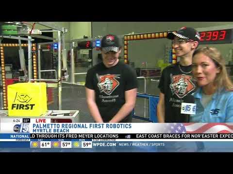 Amanda Live at Palmetto Regional FIRST Robotics Competition - Good Morning Carolinas - WPDE ABC 15