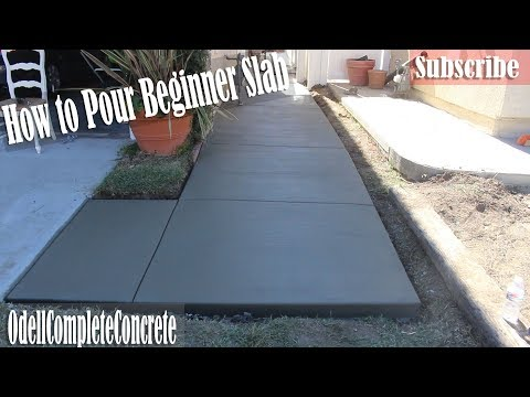 How to Pour a Beginners Concrete Slab Walkway – DIY