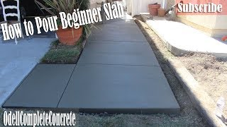 How to Pour a Beginners Concrete Slab Walkway - DIY