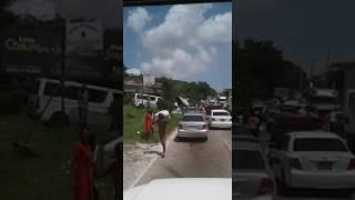 Truck Crash At Spur Tree Hill Jamaica