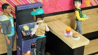 Game | How to Make a Doll Arcade Video Game Machine Doll Crafts | How to Make a Doll Arcade Video Game Machine Doll Crafts