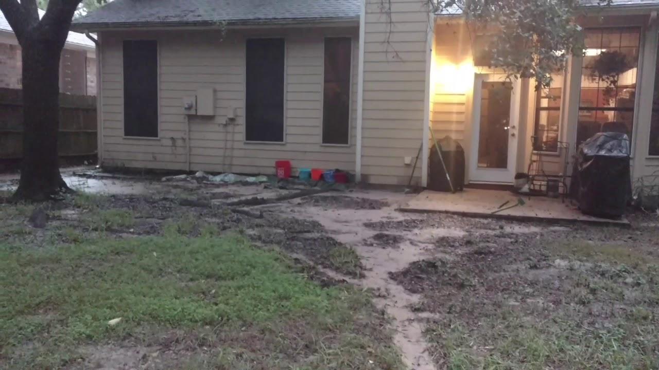 hurricane harvey our backyard monday morning 8 28 2017 youtube