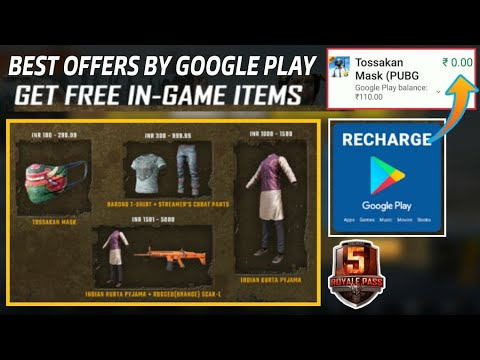 Gift items in PUBG mobile - Google play offer