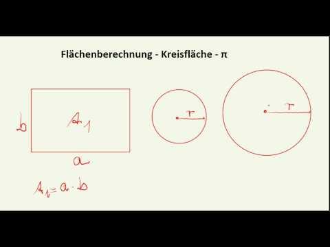 flächenberechnung - kreisfläche berechnen - youtube