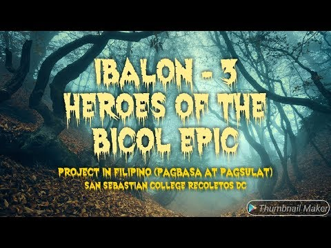 the ibalon epic Epic in ibalon this is a script i wrote for our role playing about philippine epics last sem (2008) for my history 1 (philippine history) subject the format i used in this script is the format usually used for writing scripts for audiovisual media.