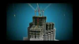 LA CONSTRUCCION DEL EDIFICIO MAS ALTO DEL MUNDO EN 6 MINUTOS    Burj Khalifa Dubai