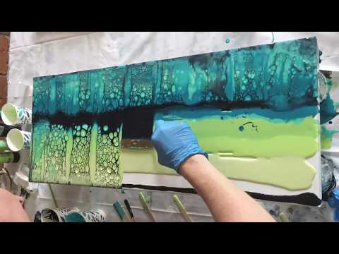 Acrylic Pour Using Silicone and Floetrol