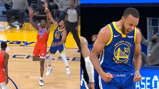 Steph Curry, 3 metrelik geri adım atışı üçlükle oynadıktan sonra çıldırıyor🔥