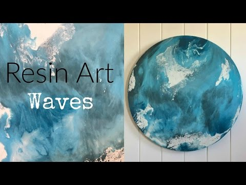 Resin Art (waves) dirty pour