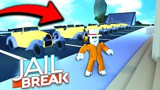 SPAWNING MAX CARS IN ROBLOX JAILBREAK