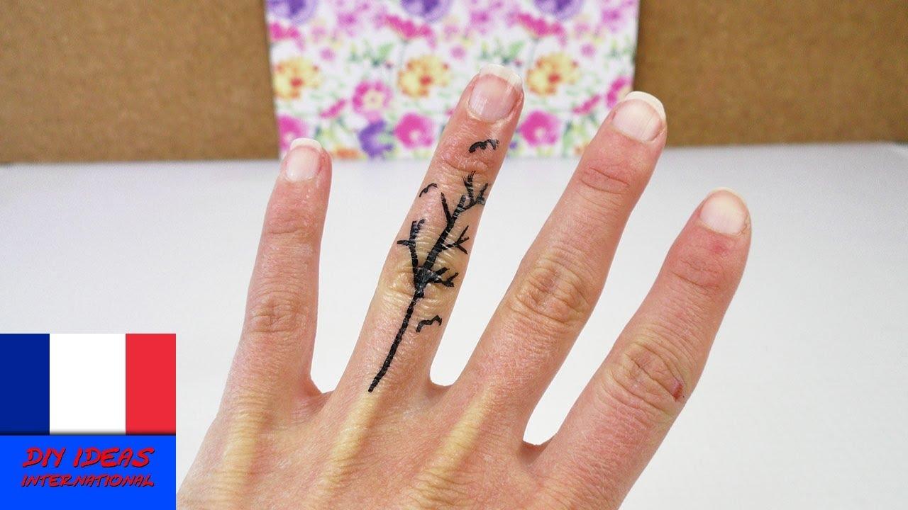 Tatouage en forme de flocon de neige à faire soi-même / DIY Tattoo temporaire avec de l'eyeliner ...