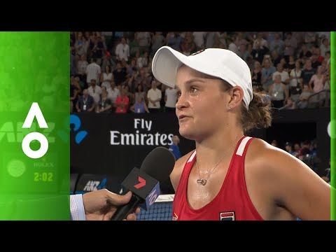 Ashleigh Barty on court interview (2R) | Australian Open 2018