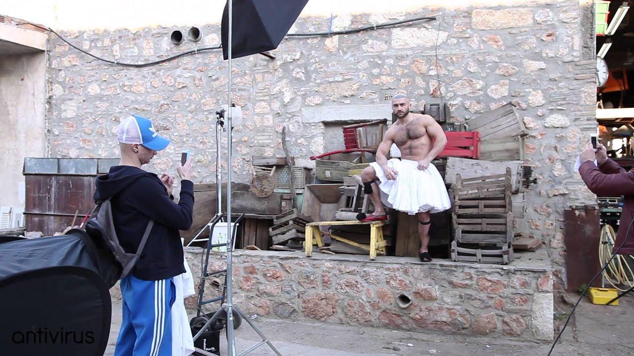Francois Sagat In A Very Greek Photoshooting For Antivirus Magazine