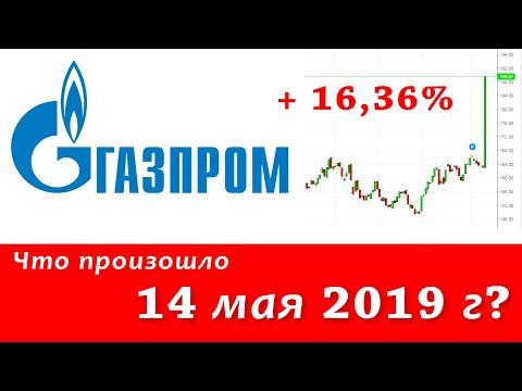 Что произошло с акциями Газпрома 14 мая 2019 года - ожидания дивидендов или манипуляция рынком?