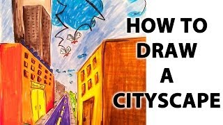 How To Draw a Cityscape in Perspective