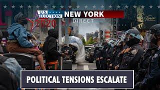 Pro & Anti-Trump protesters clash   U.S. Election 2020 New York Direct