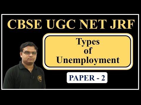 UGC NET JRF July 2018 || Economics, Commerce, Management Paper 2 - Types of Unemployment