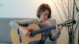 Yesterday Once More - Carpenters - Yenne Lee - Classical guitar cover (fingerstyle) 클래식기타 이예은
