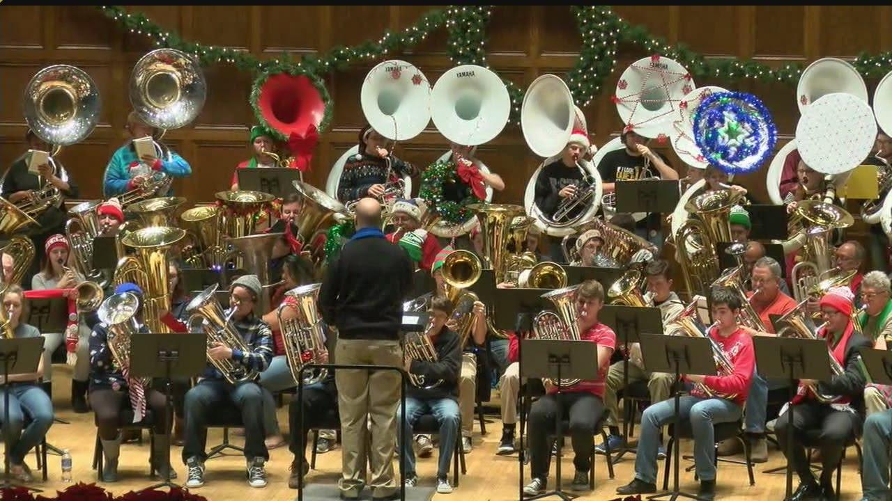 Tuba Christmas concert comes to Stambaugh Auditorium - YouTube