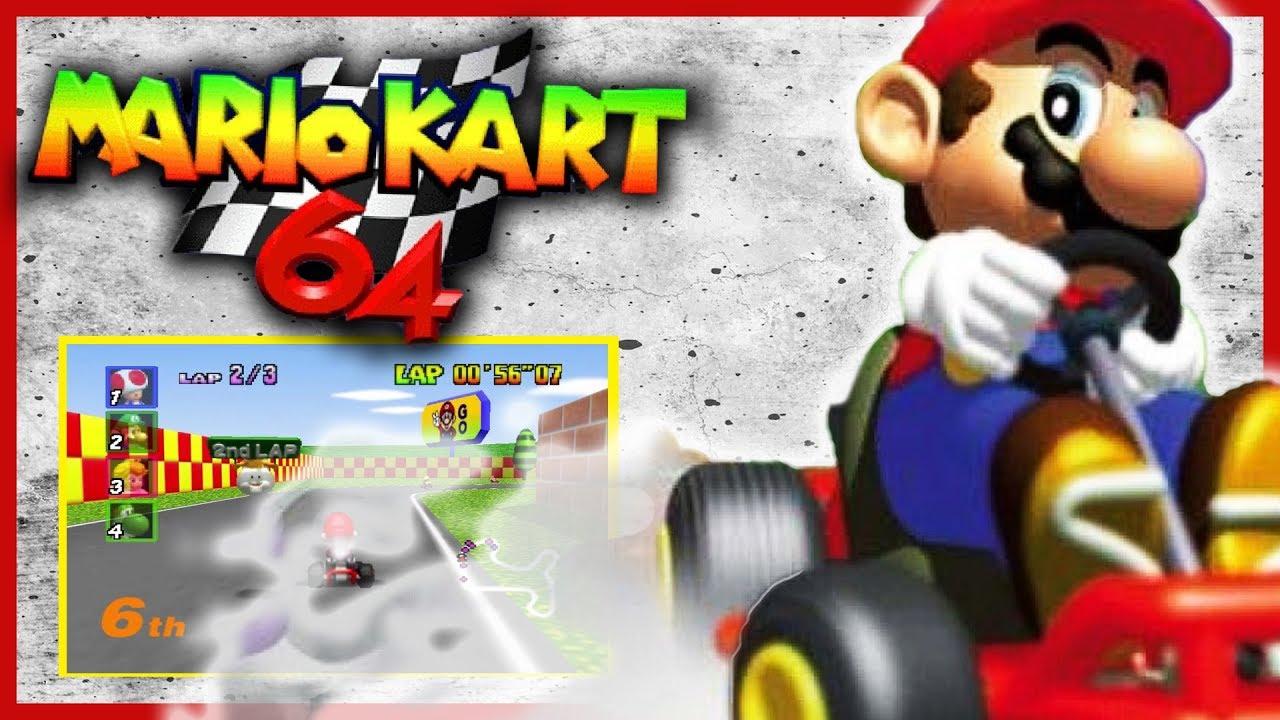 Quick Gameplay Mario Kart 64 1996 N64 Emulator