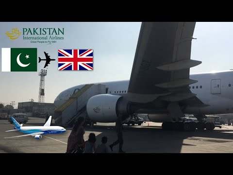 NEW LIVERY! Flight review PIA B777-200LR AP-BGZ Islamabad to Manchester 05/12/2017