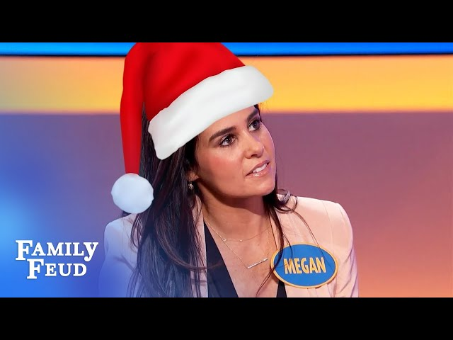 This is what Mrs. Claus does for Santa! | Family Feud