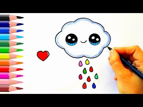 How To Draw A Rain Cloud - Yağmur Bulutu Nasıl Çizilir?