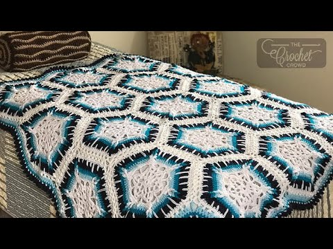 How To Crochet A Blanket Winter Blizzard Youtube