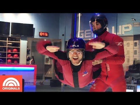 Indoor Skydiving And Learning To Fly With Virtual Reality | Out And About | TODAY Originals