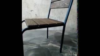 видео Мебель для летних кафе и площадок из дерева