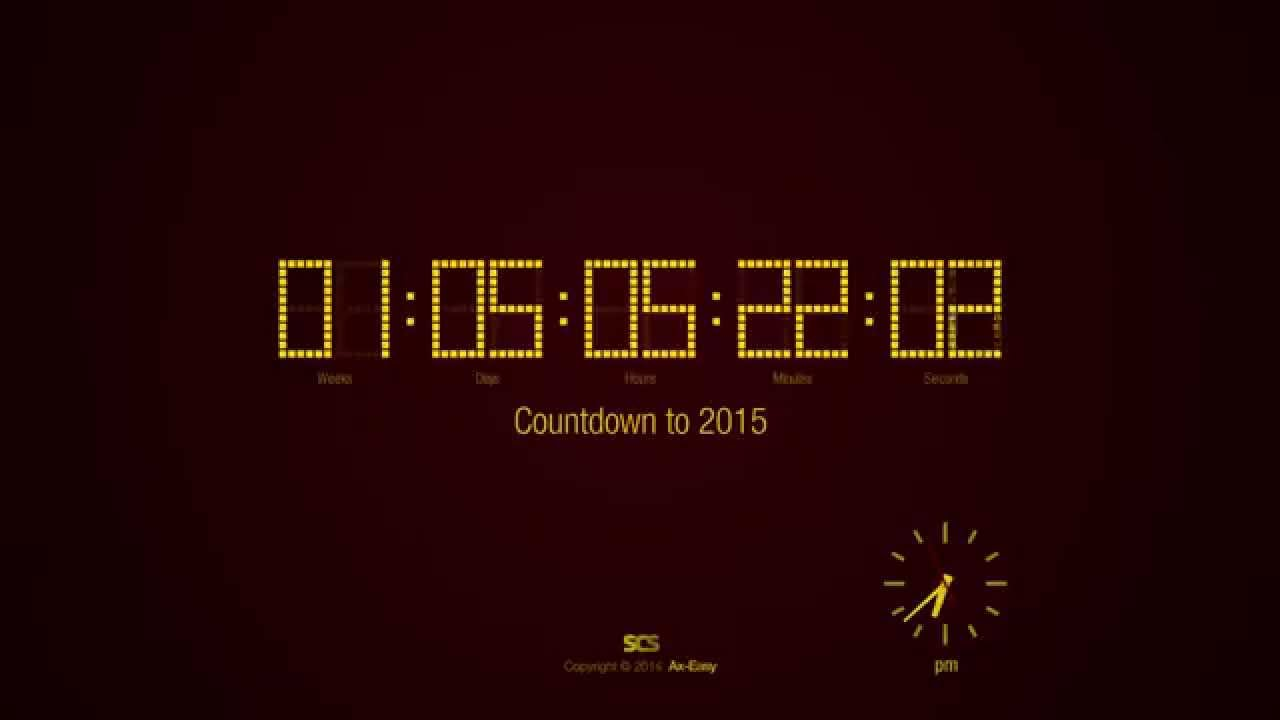 countdown to 2015 screensaver preview hd youtube