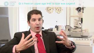 Is there an upper age limit for laser eye surgery?